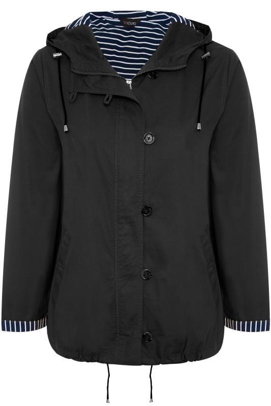 Black Twill Parka Jacket