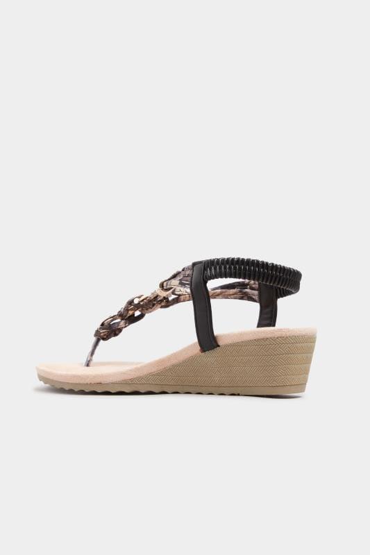 Black Twist Gold Tone Heeled Sandals In Extra Wide Fit_df2c.jpg