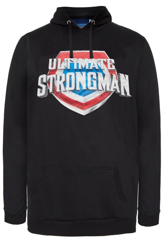 Plus Size Hoodies BadRhino Black 'Ultimate Strongman' Hoodie
