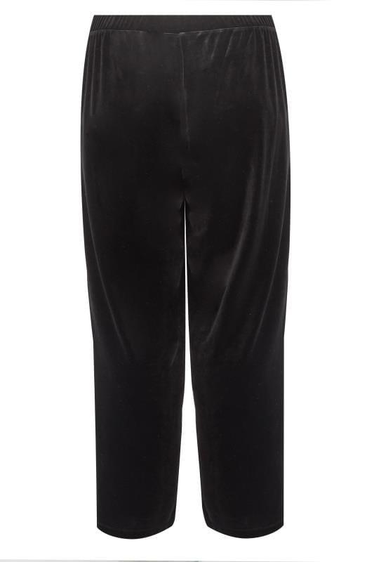 Zwarte fluwelen broek, grote maten 44 64 | Yours Clothing