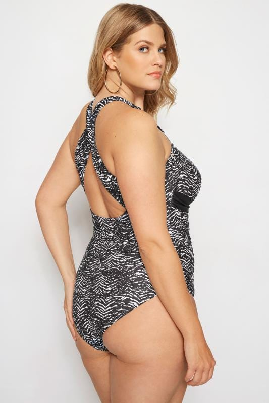 Black & White Animal Print Swimsuit