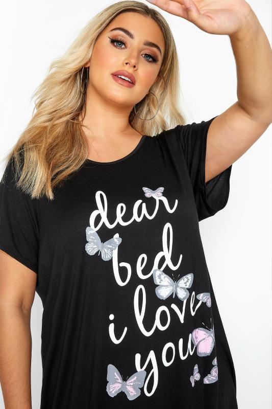 Black & White Butterfly Print Pyjama Set