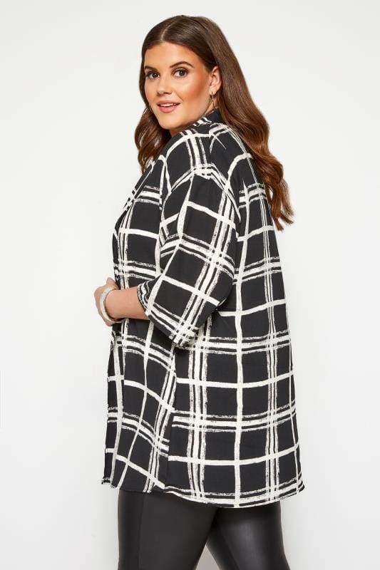 Black & White Check Cover Up