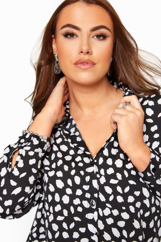 Black & White Dalmatian Print Shirt
