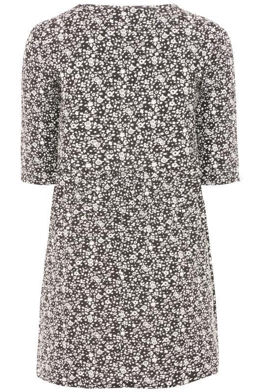 Black & White Floral Tunic Dress