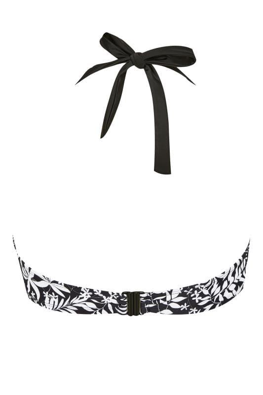 Black & White Leaf Bikini Top