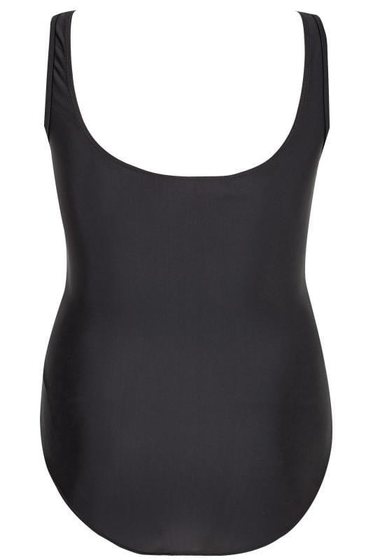 Black & White Leaf Swimsuit