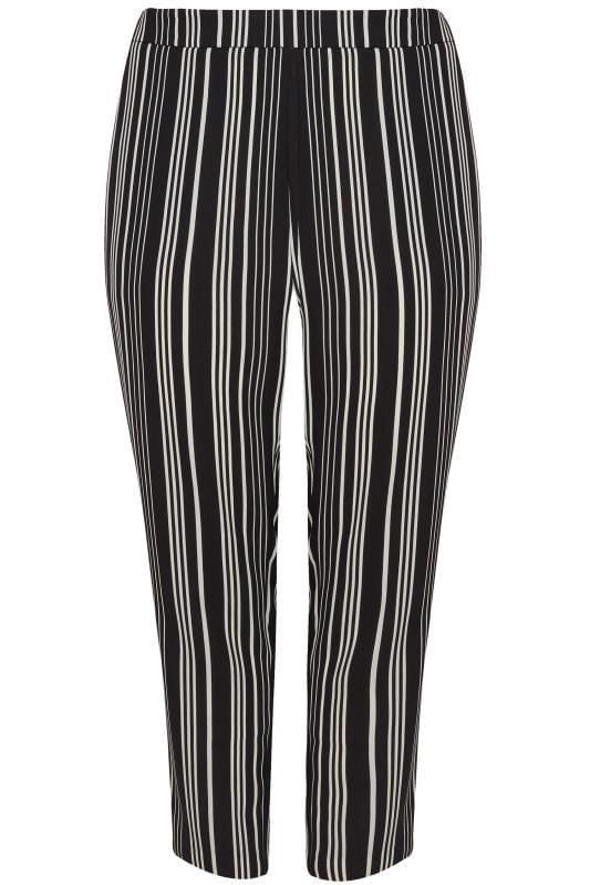 Black & White Stripe Tapered Trouser