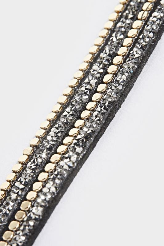 Black Beaded Wrap Bracelet