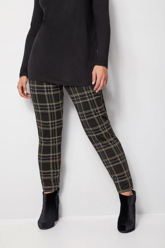 Black & Yellow Check Trousers