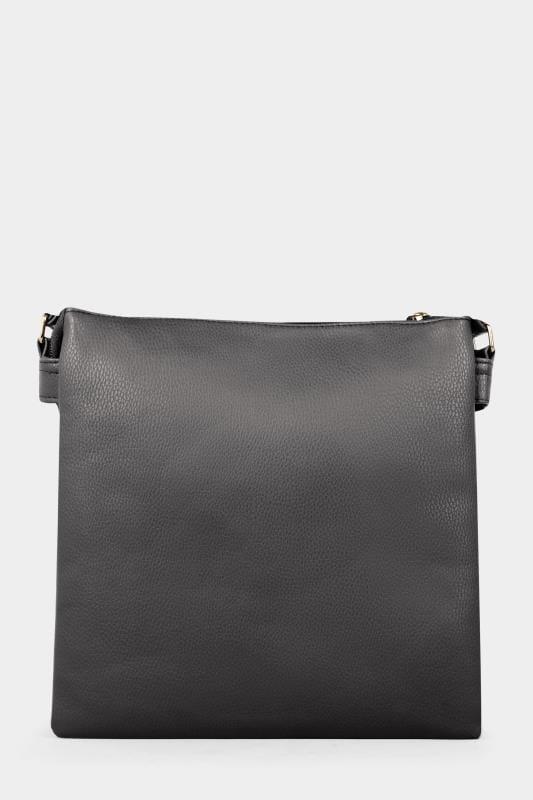 Black Zip Cross Body Bag