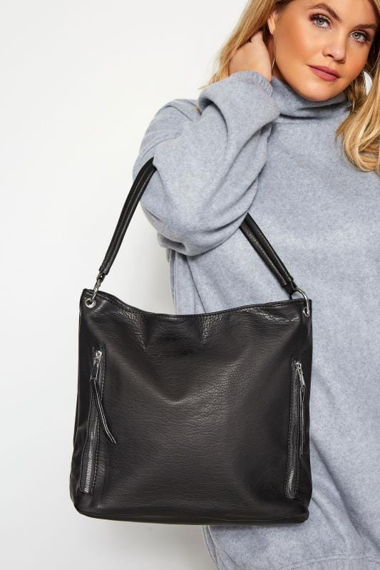 Shoulder Bags Black Zip Slouch Bag
