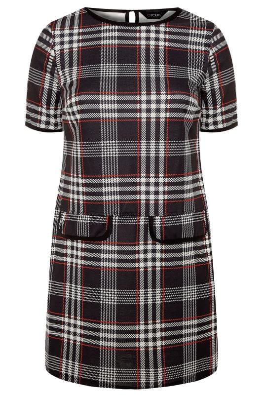 Black and Red Large Check Tunic