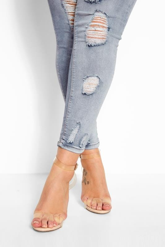 Bleach Blue Extreme Distressed JENNY Jeggings