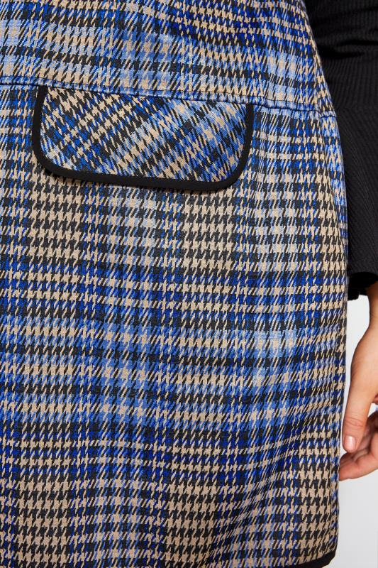 Blue Check Mock Pocket Tunic