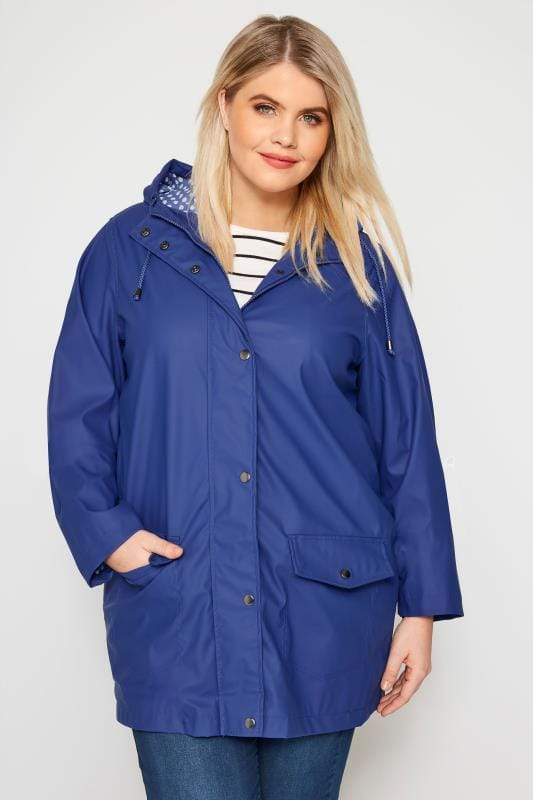 Plus Size Coats Blue Coated Mac