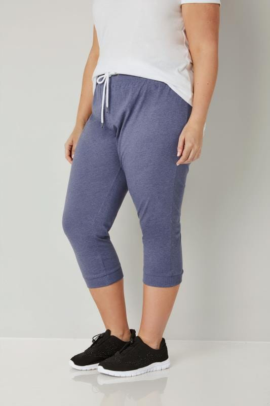 Blue Cropped Joggers