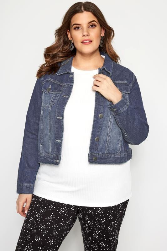 Große Größen Jeansjacken Klassische Jeansjacke - Blau