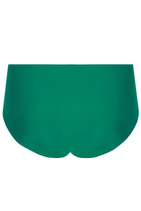 Green & Multi Hibiscus Print Ruched Briefs