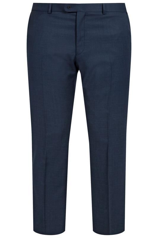 BadRhino Navy Sharkskin Suit Trousers