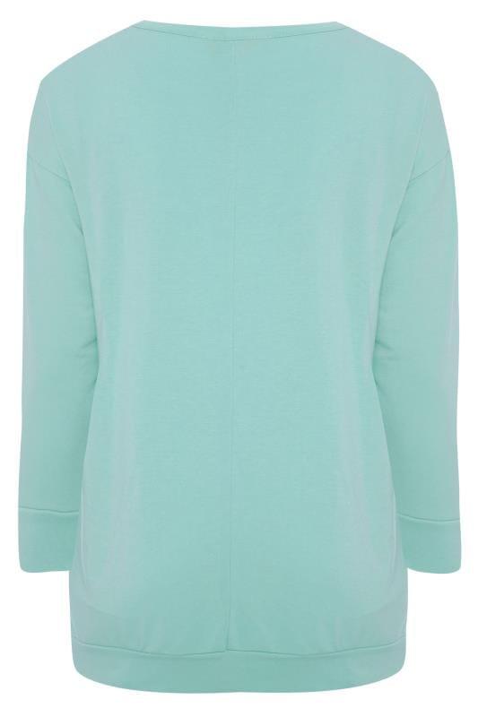 Blue Leopard Star Print Sweatshirt