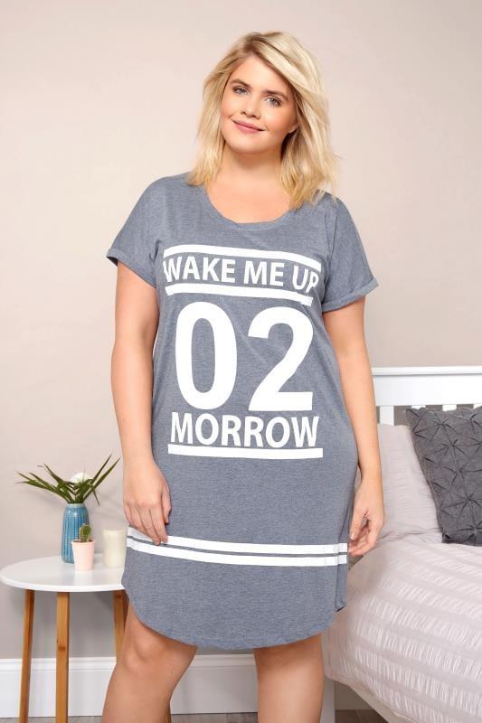 Blauw 'Wake Me Up 02 Morrow' nachthemd