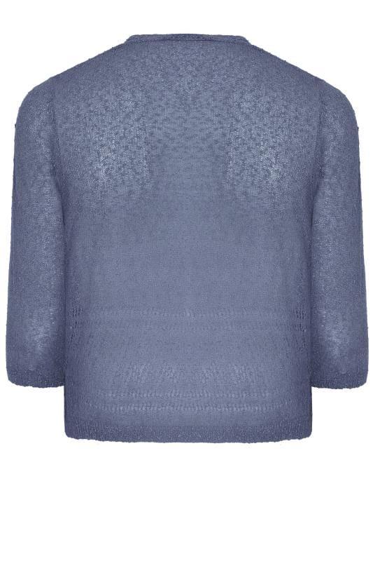 Bolero aus Popcorn-Crochet - Blau