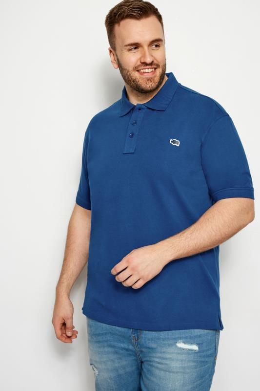 Blue Premium Stretch Polo Shirt
