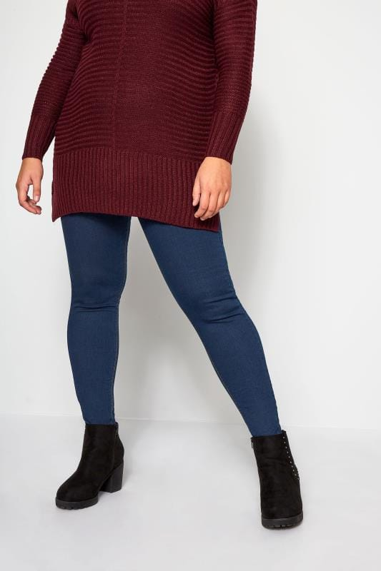 Blaue Pull-On Jeggings JENNY