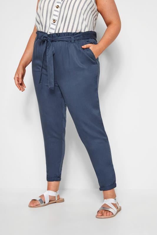 Blue Tapered Trousers