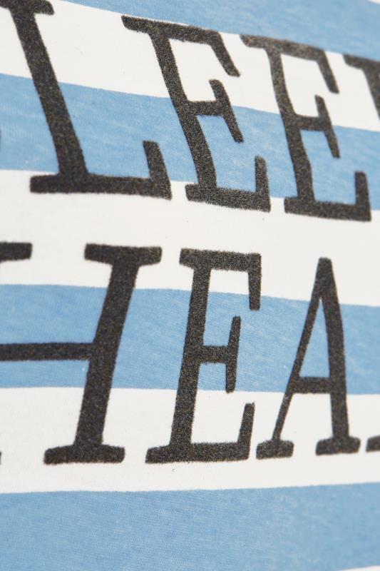 """Nachthemd mit """"Sleepy Head""""-Schriftzug - Blau/Weiß gestreift"""