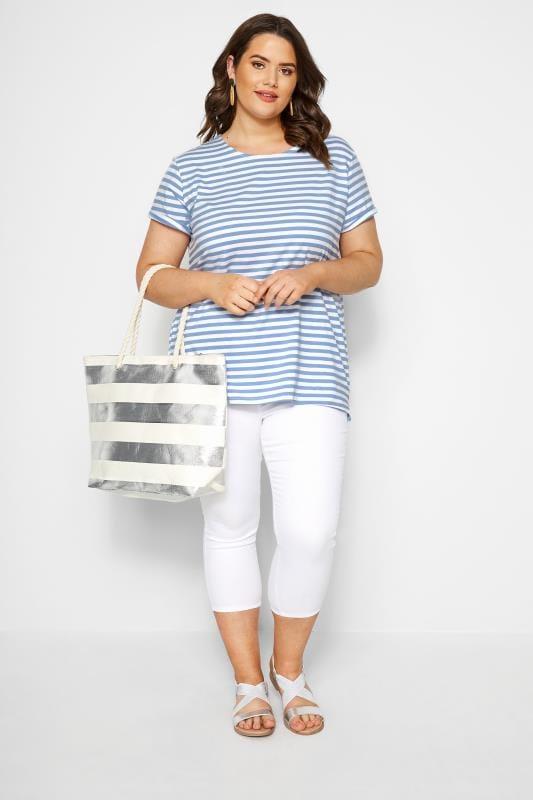 Blue & White Striped T-Shirt
