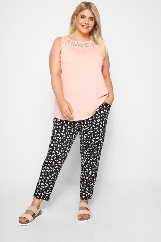 Blush Pink Lace Vest Top