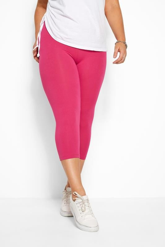 Bright Pink Cropped Leggings