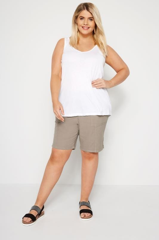 Stone Cool Cotton Pull On Shorts