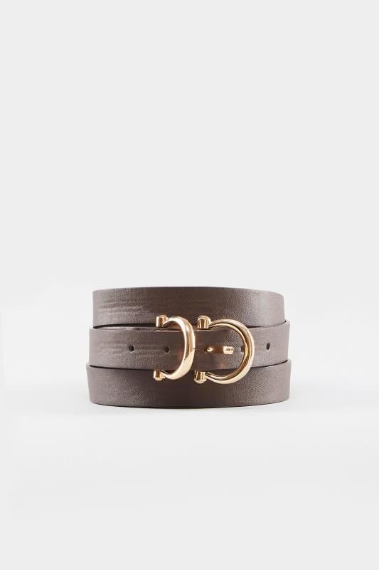 Brown Double Buckle Belt
