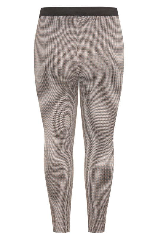 Brown Knitted Check Trousers