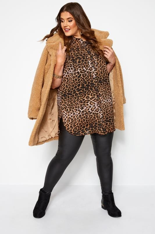 Brown Leopard Print Shirt