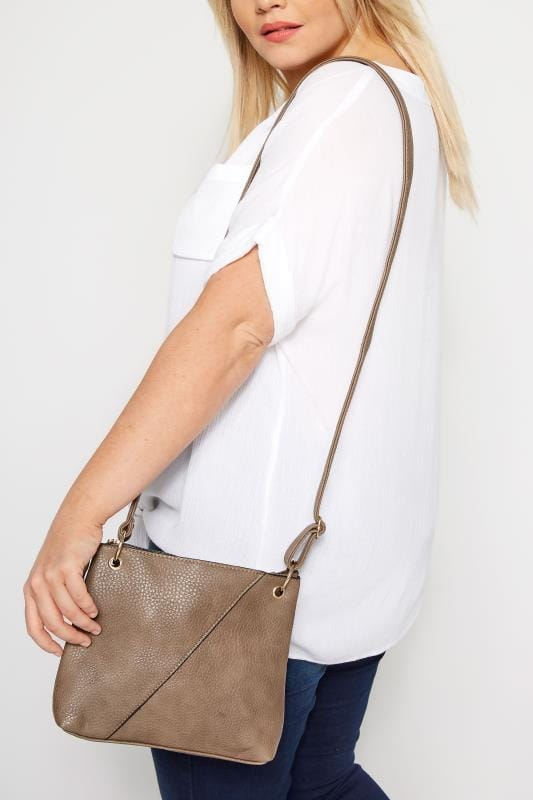 Brown Seam Cross Body Bag