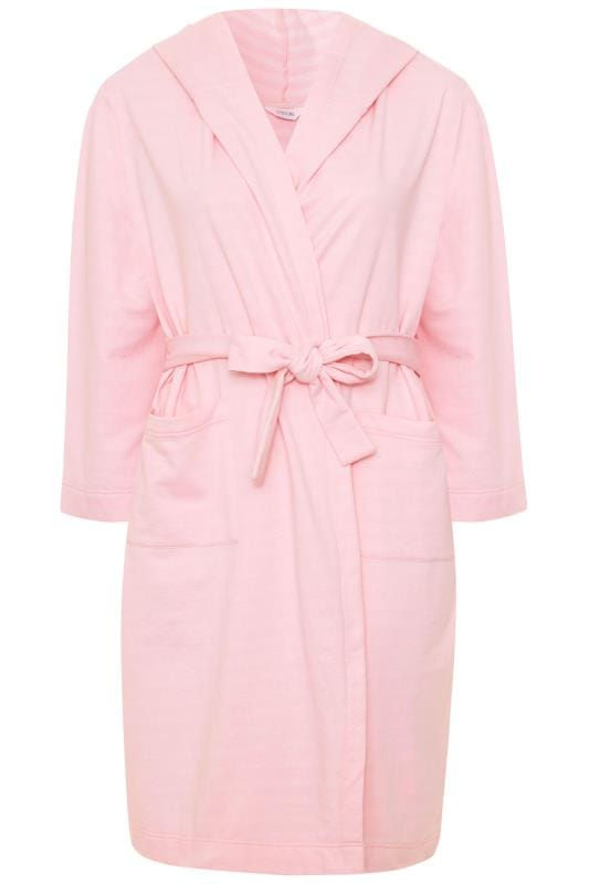 Pink Striped Lightweight Robe