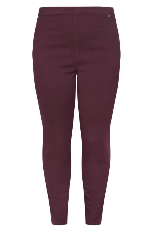 Burgundrote Pull-On Jeggings JENNY