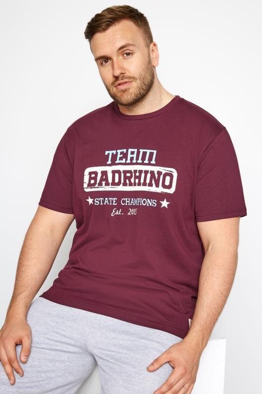 BadRhino Burgundy Team Rhino Print T-Shirt