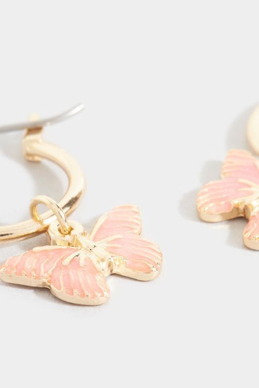 Schmetterling-Ohrhänger - Goldfarben