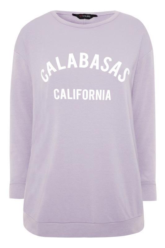 """Sweatshirt mit """"Calabasas"""" Schriftzug - Flieder"""