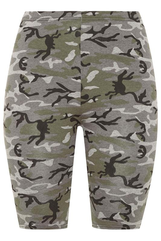 LIMITED COLLECTION Khaki Camo Print Cycling Shorts