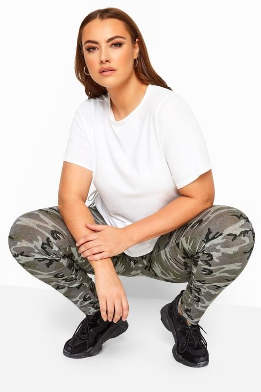 LIMITED COLLECTION Khaki Camo Print Leggings