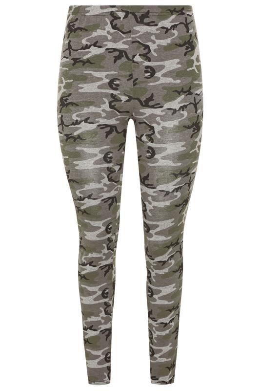 LIMITED COLLECTION Khaki Camo Print Leggings