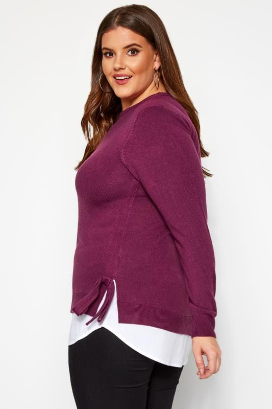 Berry Purple 2 in 1 Cashmilon Jumper