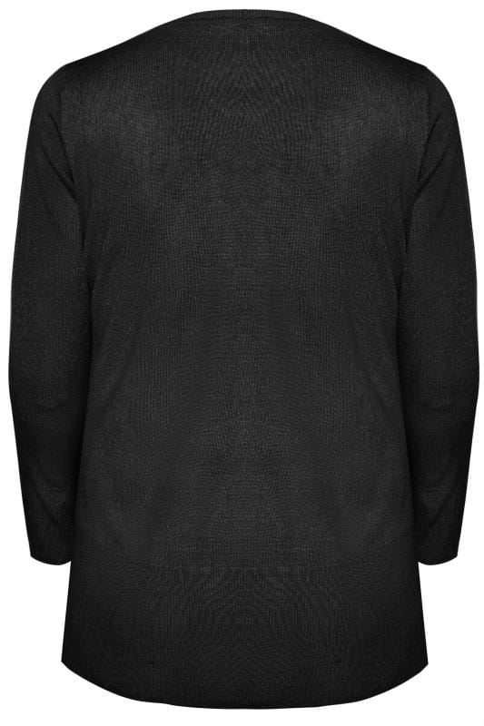 Black Fine Knit Cashmilon Jumper