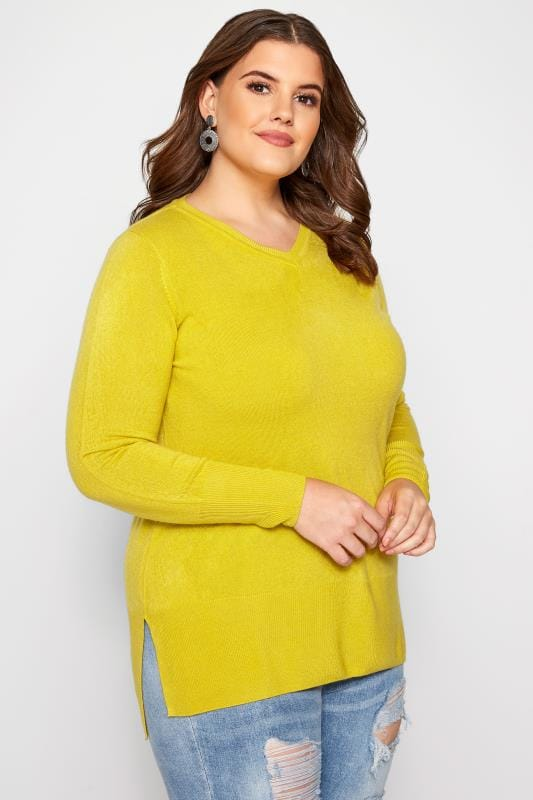 Yellow Fine Knit Cashmilon Jumper